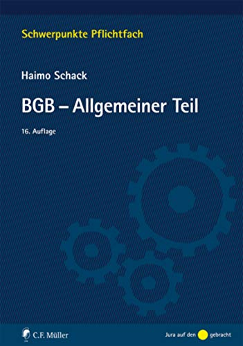 BGB-Allgemeiner Teil (Schwerpunkte Pflichtfach)