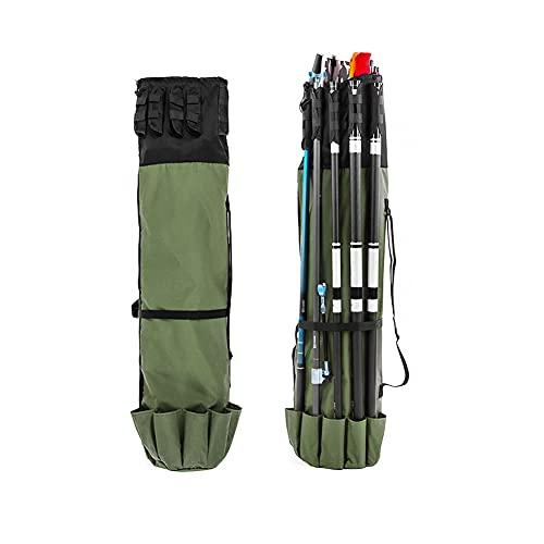 N /D Bolsa para caña de pescar, portátil, multifuncional, bolsa para caña de pescar