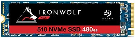 Seagate IronWolf 510 480GB NAS SSD Internal Solid State Drive M 2 PCIe for Multibay RAID System product image