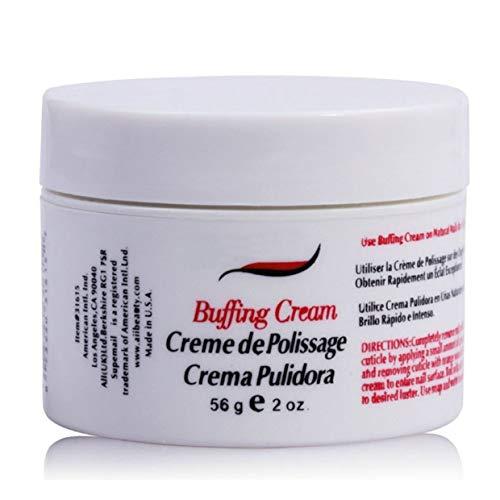 MXECO Professional Nail Polishing Wax Art Buffing Cream for Nails Outils de soins des ongles nécessaires Manucure Lustre Set de cire à polir les ongles (blanc et rose)