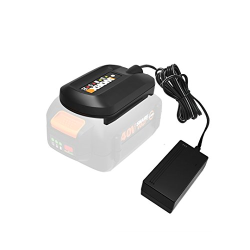 WORX 40v MAX Lithium Ion Battery Charger for WA3580 Battery