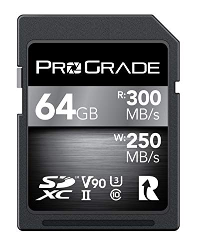 SD Card V90 (256GB) -Up to 250MB/s Write Speed and 300 MB/s Read Speed | for Professional...