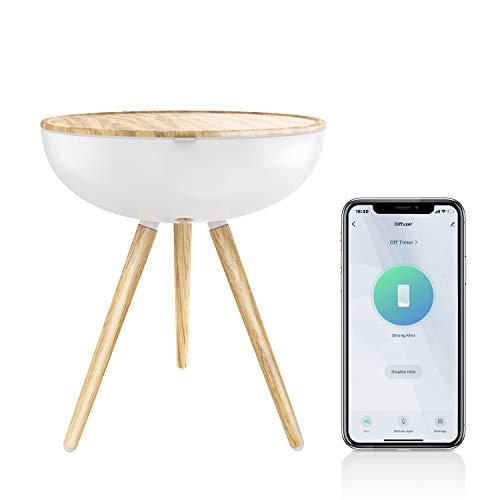 TENDOMI Humidificador Beb/é Compatible con Alexa y Google Home Llenado Superior Humidificador WiFi Inteligente 6 Luces de Colores App Control Difusor de aceites Esenciales