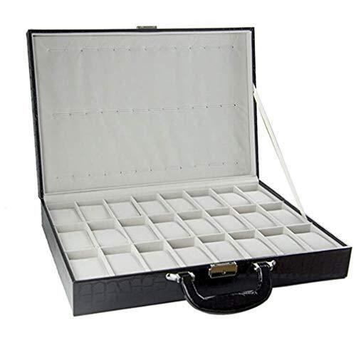 FACAIA Caja de Reloj 36 Ranuras Reloj Caja de Almacenamiento de exhibición de joyería Estuche Bandeja de Pulsera Cuero sintético