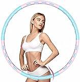 CanKun Aro Hula Hoop para Adultos, Ajustable de 1 a 5 kg núcleo Estable de Acero Inoxidable Fitness Hula 6 Secciones de Hula Hoops Desmontables Adecuado para Fitness Adulto y Pérdida de Peso