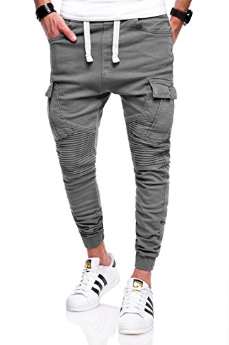 behype. Herren Jogg-Jeans Chino Jeans-Hose 80-2276 Dunkelgrau 30