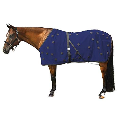 Dura-Tech Magnetic Horse Sheet – Navy Size 68 | 90 Unipolar Magnets | 350 D Lightweight Mesh | Equine Therapeutic Covering | Accelerate Recovery for Soreness & Inflammation