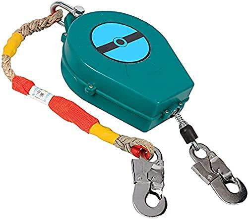 TADYL Dispositivo De Seguridad De Altura De Línea De Vida Autorretráctil De Protección contra Caídas, Cordón Retráctil De Cable Carcasa De Aluminio Gancho De Presión-7m