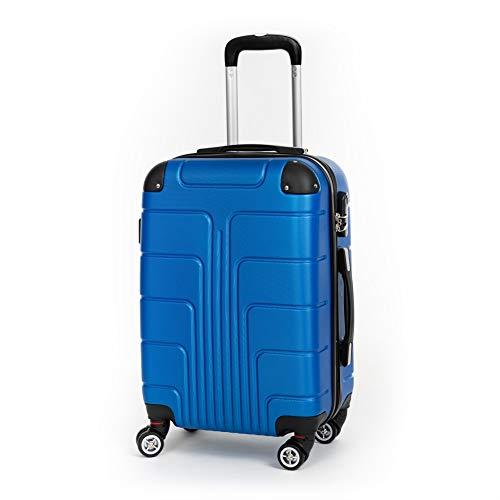 Beibye A12 - Juego de maletas rígidas (4 ruedas, tamaño M-L-XL) Turquesa azul real large