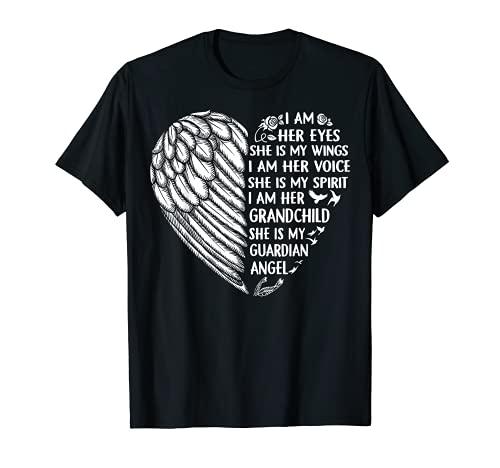 My Grandma Is My Guardian Angel Camisa I Am Her Nieto Camiseta