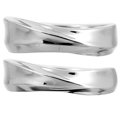 [ココカル]cococaru ペアリング 2本セット K18 ホワイトゴールド 結婚指輪 日本製 (レディースサイズ19号 メンズサイズ12号)