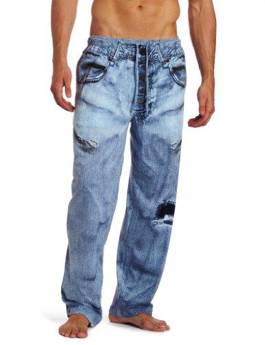 Paul Frank Men's MJC International Generic Faux Denim Pajama Pant, Blue, X-Large