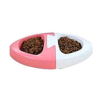 Chiens Gamelles et distributeurs Station d'alimentation d'animal familier de Bol de Chien de Double, Bols de Nourriture et d'eau, Plat de Nourriture de Nourriture imperméable et antidérapant pour des