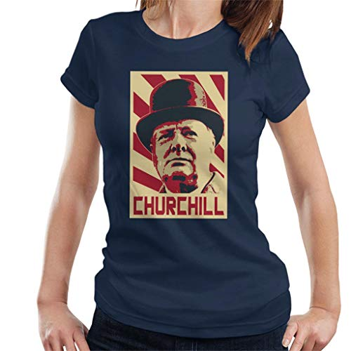 Winston Churchill Retro Propaganda Women's T-shirt