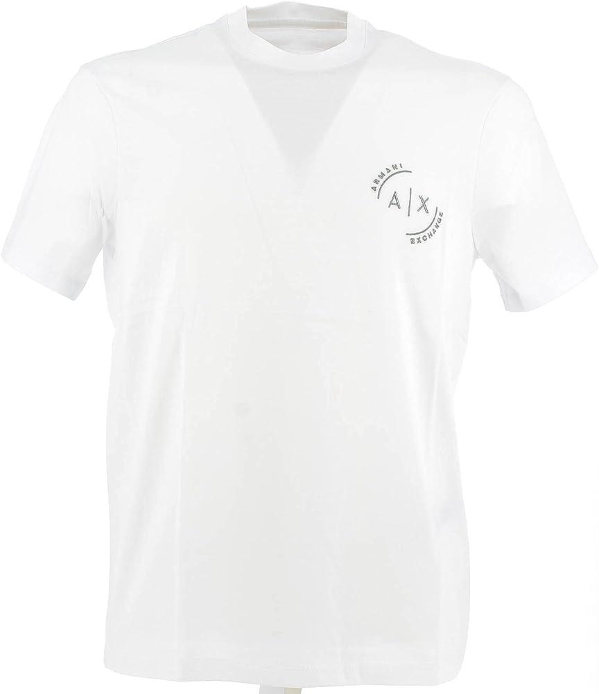 Armani exchange t-shirt, maglietta da uomo, maniche corte,  100 % cotone, taglia XL