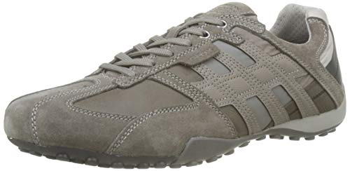 Geox Herren Uomo Snake E Sneaker, Grau (Stone/Rock C9m5y), 43 EU