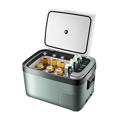yankai Mini Frigorífico Refrigeración por Compresor, Congelación + Refrigeración, Antivibración Y Antivibración, Bloqueo De Temperatura Cíclica, Adecuado para Automóvil, Hogar, Exterior