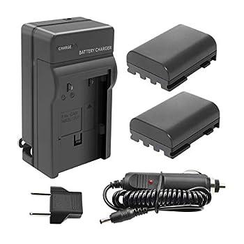 TURPOW NB-2LH NB-2L Battery Charger Set for Canon PowerShot G7 G9 S30 S40 S45 S50 S60 S70 S80 DC410 DC420 VIXIA HF R10 HF R100 HF R11 EOS 350D 400D Digital Rebel XT XTi [ 2 Pack 1700mAh ]