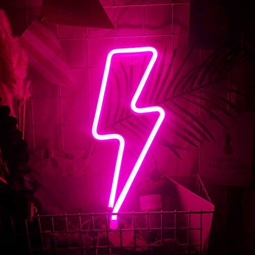 Luz de Neón,Luces de neón en forma de rayo LED,Luz de neón...