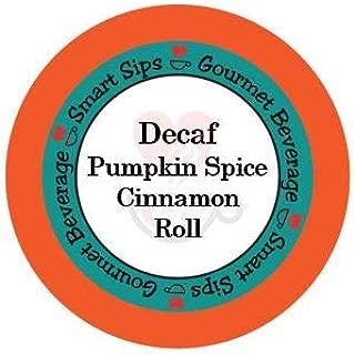Decaf Pumpkin Spice Cinnamon Roll Coffee, Gourmet Flavored Coffee For Keurig K-cup Brewers, 24 Count