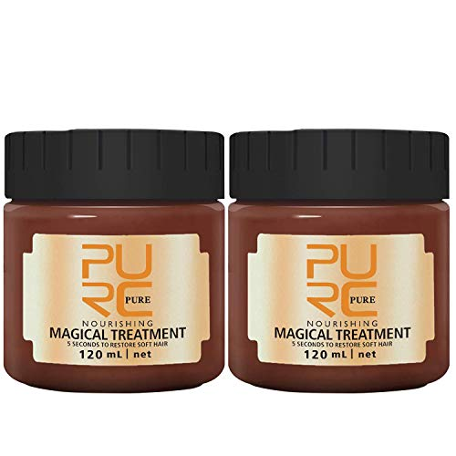 2PACK Hair treatment Magical Hair Mask Advanced Molecular 5 Seconds Repairs Damage Hair Root Hair Tonic Keratin Hair & Scalp Treatment (120ml)