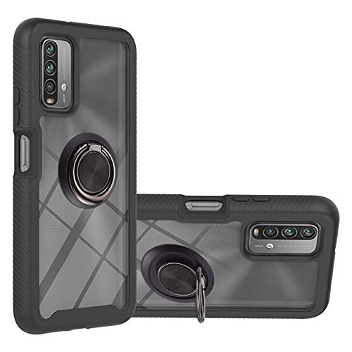 Custodia protettiva per Xiaomi Per Xiaomi Poco M3 / Redmi Nota 9 4G / Redmi 9 Power / Redmi 9T Stellato Stellato Serie a colori solidi Antitropia PC + Custodia protettiva in TPU con supporto anello e