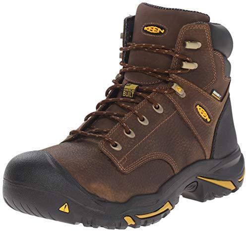 KEEN Utility - Men's Mt Vernon 6' (Soft Toe) Work Boots, Cascade Brown, 10 D
