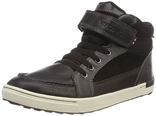 Viking Unisex-Kinder Moss Mid Hohe Schuhe, Schwarz (Black/White), 27 EU