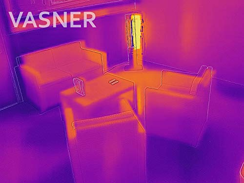 VASNER StandLine 25R Infrarot Stand-Heizstrahler – weiß – 2500 Watt, Terrassenstrahler elektrisch - 9