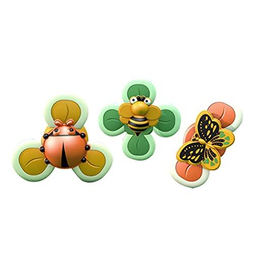 Eeneme 3 unids ventosa nueva spinning superior juguetes mesa lechón juego insecto juguete educativo temprano