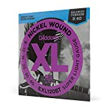 D'Addario EXL120BT Nickel Wound Electric Guitar Strings, Balanced Tension Super Light, 9-40