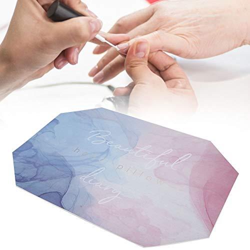Almohada de mano de manicura, almohada de uñas, almohada de mano de nail art de diseño octogonal suave y plegable Mantiene la mesa de manicura limpia y ordenada adecuada para el salón de uñas(#2)