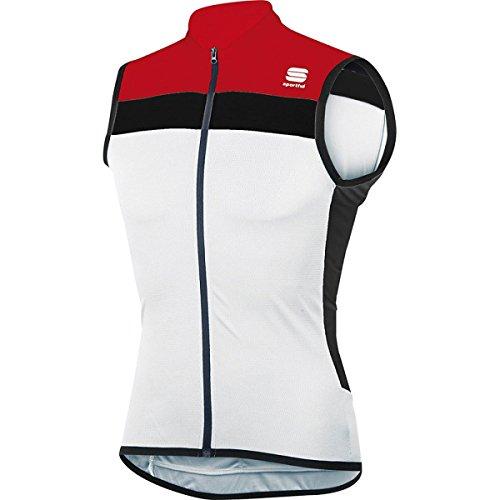 Maillot Sportful Pista Sin mangas Blanco-Rojo
