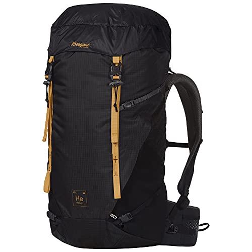 Bergans Helium V5 M 40 Grau, Herren Alpin- und Trekkingrucksack, Größe 40l - Farbe Solid Charcoal - Black - Golden Yello