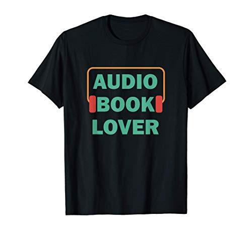 Amante audiolibro Letteratura Bookworm Leggi un libro Maglietta