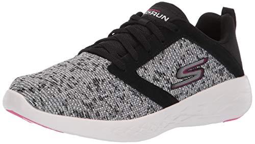 Skechers Women's GO Run 600-15097 Sneaker, Black/White/Pink, 5.5 M US