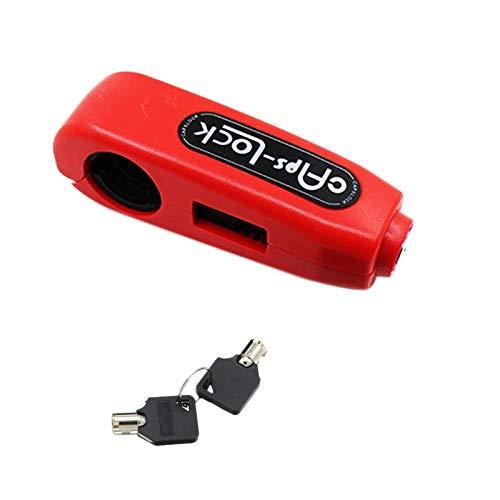Nrpfell Universal Moto Lock Scooter Manubrio Blocco Freno Impugnatura 'Acceleratore Protezione Antifurto Serrature di Sicurezza Rosso