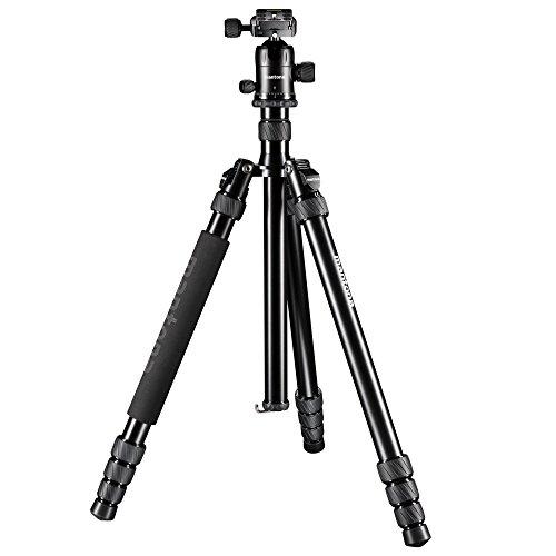 Mantona Laurum 501 (5in1 Multi Kamerastativ mit sehr hochwertigem Kugelkopf, 10 kg Belastbarkeit, inkl. 2 Mittelsäulen, 3 Tischstativbeinen, Blitzadapter, 3 Inbusschlüssel und Stativtasche)