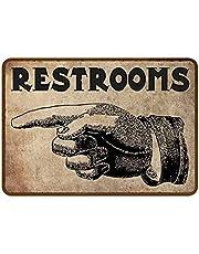 Restrooms Vinger Teken Vintage Tin Schilderij, Kunst Ijzeren Schilderij Retro Metalen Plaque Decor, Bar Decoratie Accessoires Bar Pub Thuis Decoratief
