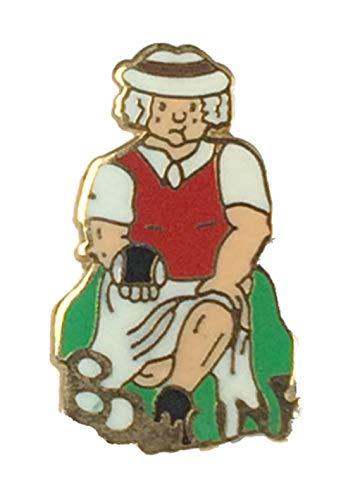 Smartbadge® Bowling Comic Lady Bowler Harte Qualität Emaille Reversnadel Badge