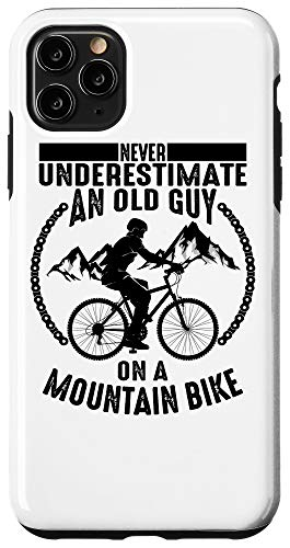 iPhone 11 Pro Max Funny Old Biker Mountain Bike Gift | Cute Bicycle Riders Men Case