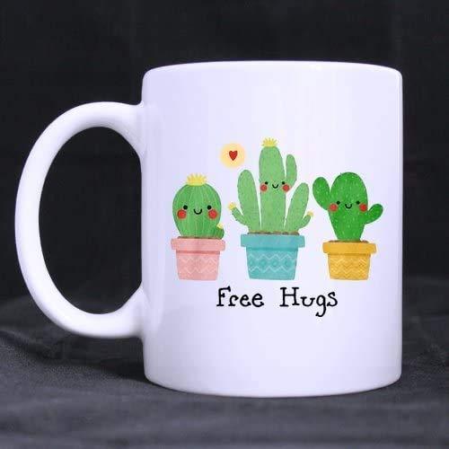 Free Hugs Cactus - Taza de café (250 g)