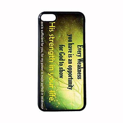 Generic Impresión Bible Quotes compatible con Apple iPhone 5 5S Se Schön Girl Shell Plástico Duro