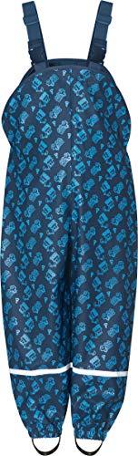 Playshoes Jungen Regenlatzhose Baustelle Regenhose,, per pack Blau (Marine 11), 80 (Herstellergröße: 80)