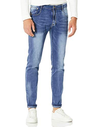 Demon&Hunter Slim Series Men's Straight Leg Fit Jeans DH8315(33)