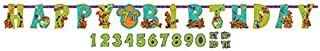amscan Awesome Scooby-Doo Birthday Party Jumbo Add-an-Age Letter Banner Decoration, Paper , 10' X 10
