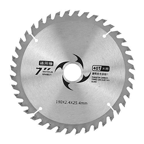 Hoja de sierra circular de carburo Hojas de sierra Hoja de sierra circular 7,1 x 0,1 x 1 pulgada con arandela para cortar madera Herramientas de carpintería(40T)