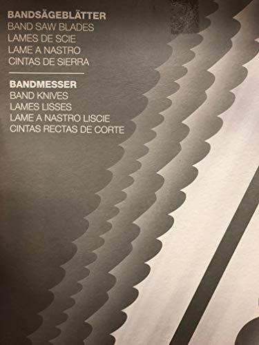 Dagema - Hoja para sierra de cinta para corte de productos cárnicos (5 unidades, 1750 x 15 x 0,45 mm)