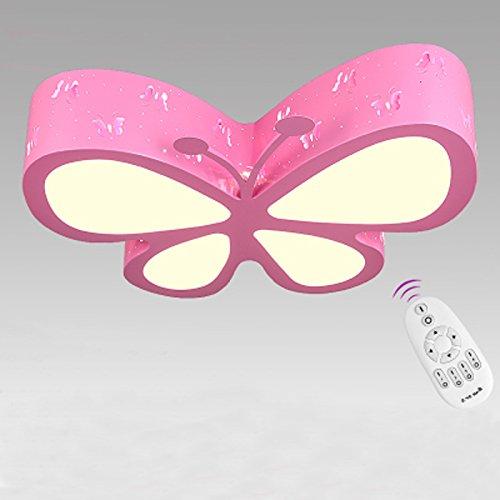 BOYX Casa de los niños Lámpara de techo Dormitorio Lámpara LED Creative Personalidad Mariposa Lámpara de techo Boy Girl Room Iluminación ( Color : Pink Dimming )