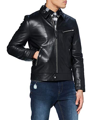 Schott NYC Lcmontana Giacca di pelle, nero, X-Large Uomo
